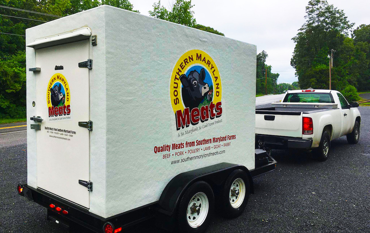 Southern Maryland Meats Commercial Freezer Trailer
